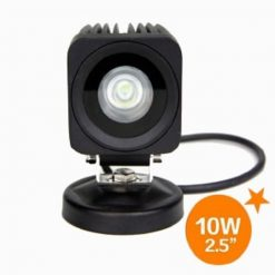 "2.5"" 800 Lumen 10 Watt CREE LED Square Flood Work Light-0"