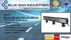 """28"""" CREE Premium Light Bar Combo Beam 14,400 Lumens 180 watts-0"""