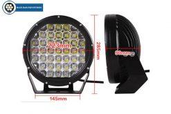 2 x 9 inch CREE 30,000 lumen 185 watt LED Focused Beam Driving Lights-250