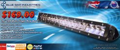 "20"" 9800 lumen 20 x 5 watt CREE Single Row Combo Beam Light Bar-0"
