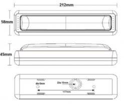 White LED Reverse Tail Light x 2 Multivolt-692
