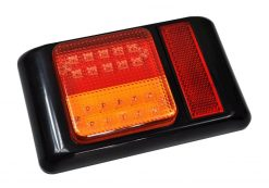 Indicator / Stop / Park Vertical Mount LED Tail Light with Reflector x 2 Multivolt-0