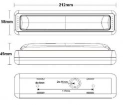Amber Indicator LED Tail Light x 2 -915