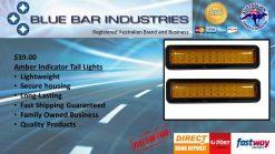 Amber Indicator LED Tail Light x 2 -913