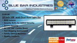 18 inch 108 watt 8640lm CREE Combo Beam LED Light Bar-0