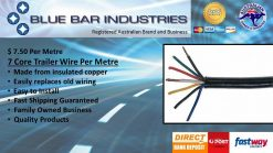 7 Core Trailer Wire - sold per metre-0