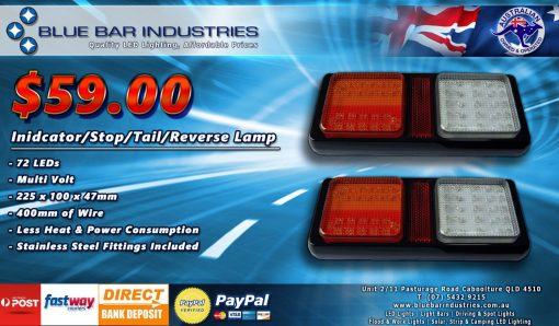 2 x Indicator/Stop/Tail/Reverse Tail Lights-0