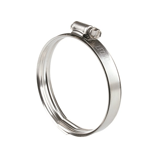 Lay Flat Hose Clamp Perforated Band Full Ss With Sleeve 3