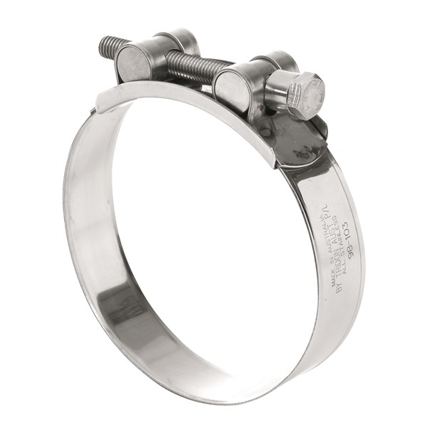 Tridon T Bolt Hose Clamp All Stainless Solid Band 38mm