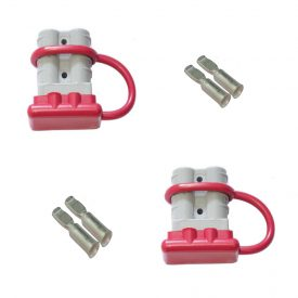 50 amp Anderson Plugs and Red Dust Covers