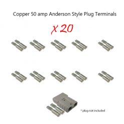 50 amp Anderson Plug Terminals x 20