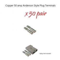 50 amp Anderson Plug Terminals x 100pcs