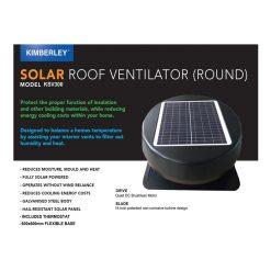 Kimberley KSV300 Solar Roof Ventilator
